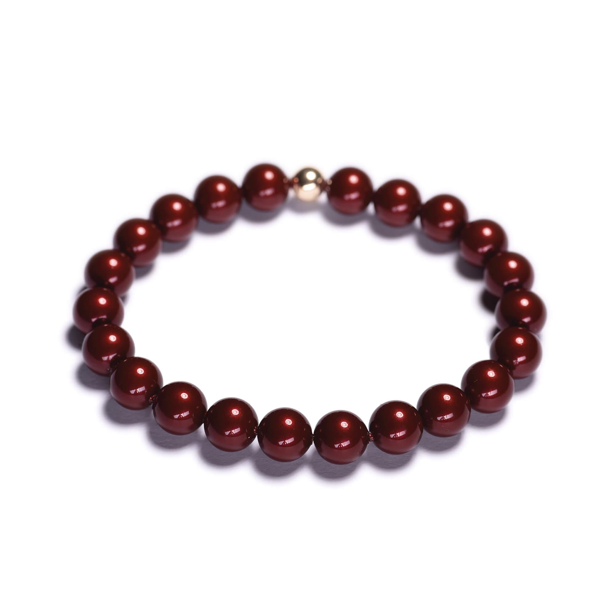 Dámský perlový náramek - bordó perly z krystalu Swarovski  b737df285c7