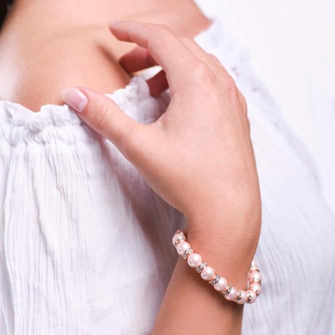 Damsky-perlovy-naramek-ruzove-shell-perly-stopery-ruzove-zlato-ruka.jpg