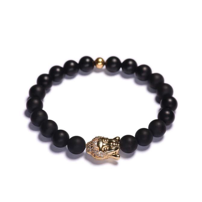 Koralkovy-naramek-cerny-matny-achat-Buddha-zlato-a.JPG