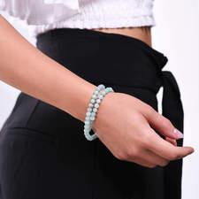 Damsky-koralkovy-wrap-naramek-zeleny-amazonite-disko-koule-bile-zlato-ruka.jpg