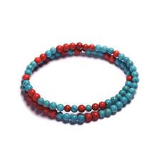 Pansky-koralkovy-wrap-naramek-modry-a-cerveny-tyrkys-bile-zlato-a.JPG
