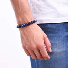 Pansky-koralkovy-naramek-10mm-modry-lapis-lazuli-bile-zlato-ruka.JPG